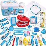 DigHealth 34 Stück Kinder Arztkoffer Spielzeug,Doktorkoffer zum Rollenspiel,Arzt Medizinisches Spielset Spielzeug Kinder,Arzt Set...