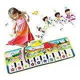 EXTSUD Piano Mat Tanzmatten Klaviermatte Musikmatte Kinder 8 Tierstimmen Klaviertastatur...