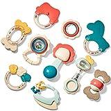 CubicFun Rassel Beißring Set Baby Spielzeug ab 0 3 6 9 Monate 10 PCS Shaker Greifen Rassel Baby Kleinkind Spielzeug Frühe...