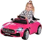 Actionbikes Motors Kinder Elektroauto Mercedes Amg GT-R - Lizenziert - 2 x 25 Watt Motor - Ledersitz - Eva Reifen - Softstart -...