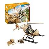 Schleich 42476 Wild Life Spielset - Helikopter Tierrettung, Spielzeug ab 3 Jahren