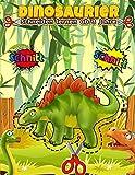 Schneiden lernen ab 3 Jahre Dinosaurier: Ausschneiden, kleben und malen üben für Kinder  ...