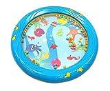 Musik für Kleine Meerestrommel Musikspielzeug für Kleinkinder und Babys ab 1 Jahr - 18 cm Durchmesser mit Fischapplikationen...
