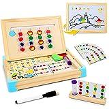 Jojoin Montessori Spielzeug Holz Puzzle Sortierbox, Kinder Lernspielzeug mit Obstsortierspiel, Magnetisches Holzpuzzle und...