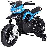HOMCOM Kindermotorrad Kinder-Elektromotorrad Elektro-Motorrad für Kinder 3-6 Jahren Licht Musik MP3 Elektrofahrzeug mit...