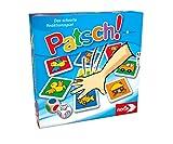 Noris 606013612 Patsch, das schnelle Reaktionsspiel mit 25 Bildkärtchen und einem Würfel, Lernspiel für Kinder ab 4 Jahren