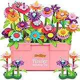 Fivejoy Blumengarten Spielzeug Für Mädchen 134PCS, DIY Bouquet Set Mit Rosa Box Draußen & Drinnen Spielzeug Geschenk Für 3-6...