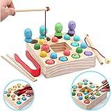 Symiu Holzspielzeug Angelspiel Montessori Lernspielzeug Magnettafel Kinderspielzeug Geschenk ab Kinder Mädchen Jungs 3 Jahre...