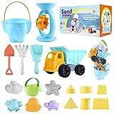 ARANEE 20 Stück Strand Sandspielzeug Set mit Sand Förmchen, Gießkanne, Strandschaufel Rechen Werkzeugsatz, Sanduhr, Sandkasten...