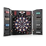OneConcept Masterdarter - Dartautomat, elektronische Dartscheibe, E-Darts, Spielcomputer, 38 Verschiedene Spiele, 211...