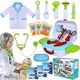 INNOCHEER Arztkoffer Kinder Medizinisches Doktor Arztkittel Rollenspiel Spielzeug für Kinder...