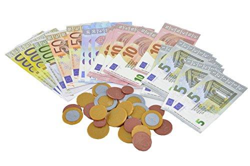 FKM Spielwaren Spielgeld  oder Zubehör für den Kaufladen oder die Kinderküche (Spielgeld Set 56-teilig)