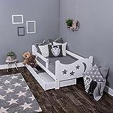 KAGU Chrisi Kinderbett Jugendbett Juniorbett Bett (140x70 cm oder 160x80 cm). Kiefernholz...