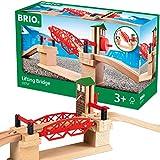 BRIO World 33757 Hebebrücke – Eisenbahnzubehör für die BRIO Holzeisenbahn –...