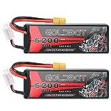 GOLDBAT 2S RC Akku 7,4 V 80C 6200 mAh RC LiPo Batterie Hardcase Pack mit XT60 Stecker für RC Auto Evader RC Truggy Buggy RC...