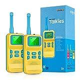 Selieve Spielzeug ab 3-8 Jahren Junge, Kinder Walkie Talkie Funkgerät mit 3KM Reichweite 8 Kanal LCD-Taschenlampe Outdoor Indoor...