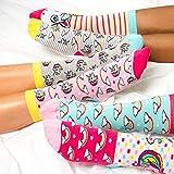 trendaffe Sei EIN Einhorn Oddsocks Socken in 37-42 im 6er Set - Strumpf