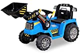 Kinder Elektrobagger mit 2 x 25 Watt Motoren Elektro Bagger Kinderauto Kinderfahrzeug Spielzeug für Kinder Kinderspielzeug (Blau)