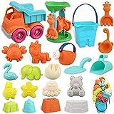 balnore Sandspielzeug für Kinder Junge Mädchen, 22 Stück Strandspielzeug Set in wiederverwendbarer Netzbeutel, Sandkasten...