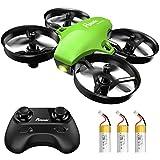 Potensic Mini Drohne für Kinder mit 3 Akkus, Ferngesteuerter RC Quadrocopter Helikopter, 3...