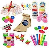 Kindergeburtstag Mitgebsel Set 140 Teile inkl. Geschenktüten Mitgebseltüten | XXL Mitbringsel Set ideal für bis zu 10 Kinder |...