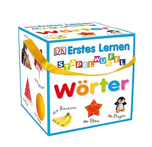 Erstes Lernen - Stapelwürfel Wörter: 10 stabile Karton-Würfel mit tollen...
