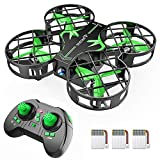 SNAPTAIN Mini Drohne H823H mit 3 Akkus für 21 Minuten Flugzeit, Quadrocopter Mini Helikopter...