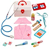 TONGJI Arztkoffer Kinder Kinderarztkoffer 14er Set Kinder Doktorkoffer Mit Krankenschwester Anzug Rollenspiel Spielzeug Pretend...