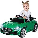 Actionbikes Motors Kinder Elektroauto Mercedes Amg GT-R - lizenziert – 2 x 25 Watt Motor – Ledersitz - Eva Reifen –...