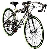 Galano Rennrad 24 Zoll Jugendfahrrad Rennfahrrad für Jugendliche Vuelta 14 Gänge (Silber, 35,5 cm)