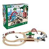 BRIO World 33512 Großes BRIO Bahn Reisezug Set – Eisenbahn mit Bahnhof, Schienen und Figuren – Kleinkinderspielzeug empfohlen...