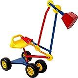 Deuba Kinderbagger Sitzbagger 120x35x80cm 360° drehbar Kippschaufel Sitz und Reifen...