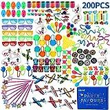 nicknack Bulk Party Tasche Füllstoff Spielzeug für Kinder, 200pcs Geburtstag Beutetasche Füllstoffe, Party Game Preise, Schule...