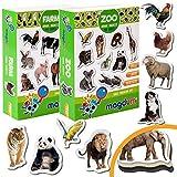 magdum Magnete Tiere Bauernhoftiere + Zoo Foto - 35 GROßE Kühlschrank Magnete für Kleinkinder - Kinder Magnete - Magnete für...