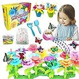 VLUINANI Blumengarten Kit für Mädchen - Geschenk Spielzeug für 3 4 5 6 Jährige Kinder Mädchen 150 Stück DIY Bouquet Sets mit...