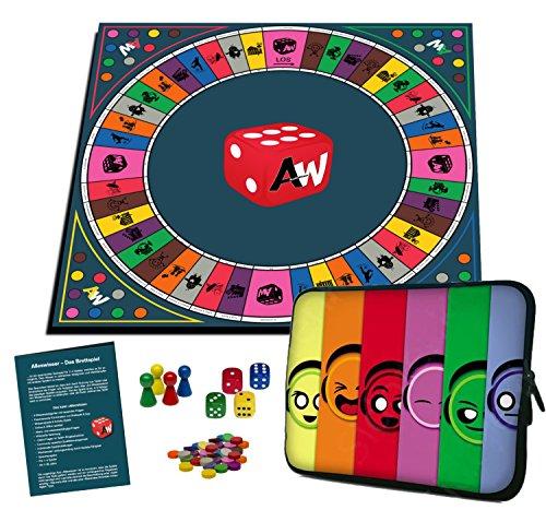 Alleswisser - Das Brettspiel, interaktives Quiz-, Wissens- und Familienspiel mit App für iOS und Android mit Tasche im...