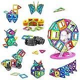 100Stk Kinderspielzeug Kinder Geschenkideen mit Rädern und Riesenradstange, Konstruktionsspielzeug 3D Mit MEHRWEG...