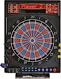 Dartona Elektronische Dartscheibe JX2000 Turnier Pro -   Dartscheibe elektronisch   Turnierscheibe mit 41 Spielen und über 200...