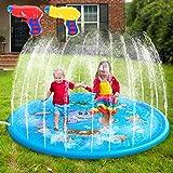 AILUKI Splash Pad Wasserspielzeug Spielmatte Outdoor Garten Splash Spielmatte...