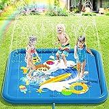 Peradix Splash Pad,170CM Sprinkler Wasser-Spielmatte Anti-Rutsch Splash Play Matte Sommer Outdoor Garten Kinder Spielzeug...