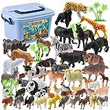 DAN DISCOUNTS Mini Spielzeug Tierfiguren Set –44 Stück Plastik Wild Zoo -Tiere im Dschungel kleine Safari Kinderspielzeug...