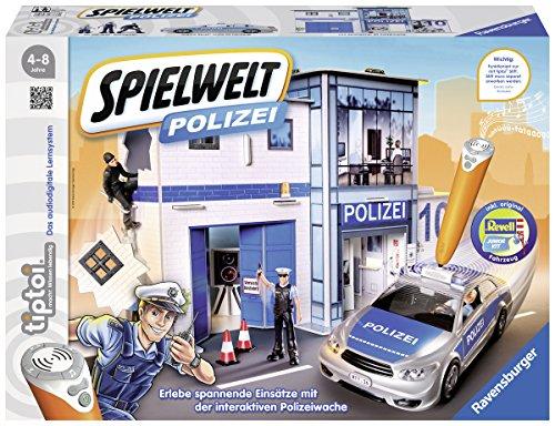 Ravensburger tiptoi Spielwelt Polizei -00759 / Erlebe den spannenden Polizistenalltag und gehe auf Verbrecherjagd!