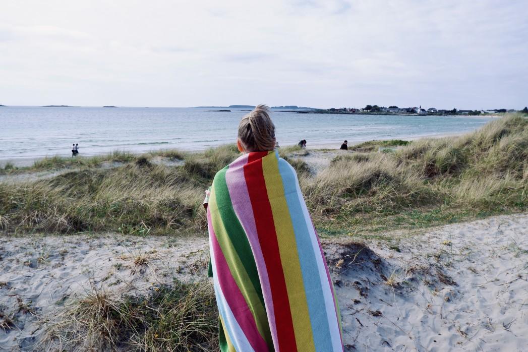 Das Einhorn Badetuch für den Strand oder Schwimmbad