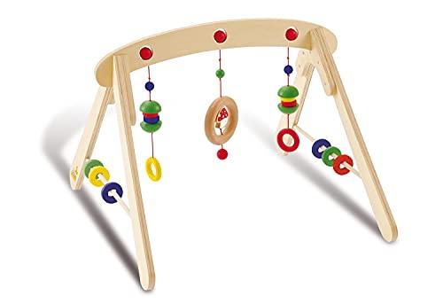 Pinolino Babygym Jane, aus Holz, zur Spiel- und Greifanimation, mit Kugeln, Ringen, Halbkugeln und einem Glückspilz, für Babys...