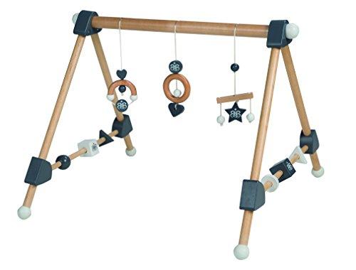 roba Spieltrapez, Aktivcenter mit höhenverstellbaren Spiel-und Greiftrainer, und Babyspielzeug aus Holz, mehrfarbig, H x B x T:...