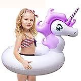 HooYL Kinder Schwimmring,Mini Aufblasbarer Einhorn Schwimm Pool,Unicorn Pool-Party Schwimmtier Luftmatratze,Einhorn Schwimm Floß...
