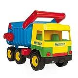 Wader 32051 - Middle Truck Kipper mit arretierbarer Mulde, gelb, Spielzeugauto ab 12 Monaten, ca. 43 cm, ideal als Geschenk zum...