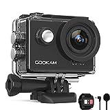 GOOKAM Action Cam 4K 60FPS 20MP WiFi Actionkamera 40M Unterwasserkamera EIS Sportkamera mit Externem Mikrofon 2.4G Fernbedienung...