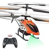 VATOS RC Hubschrauber 22 Minuten Fliegen Ferngesteuerter Hubschrauber 2,4 GHz & 3,5 Kanäle mit LED-Licht Mini Hubschrauber für...