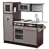 KidKraft 53260 Uptown Espresso Vornehme Spielküche aus Holz, Espressofarben